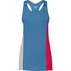 Norrøna Wool Tri Top Singlet Dames, denimite/jester red